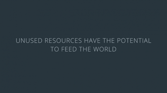Unused resources have the potential to feed the world